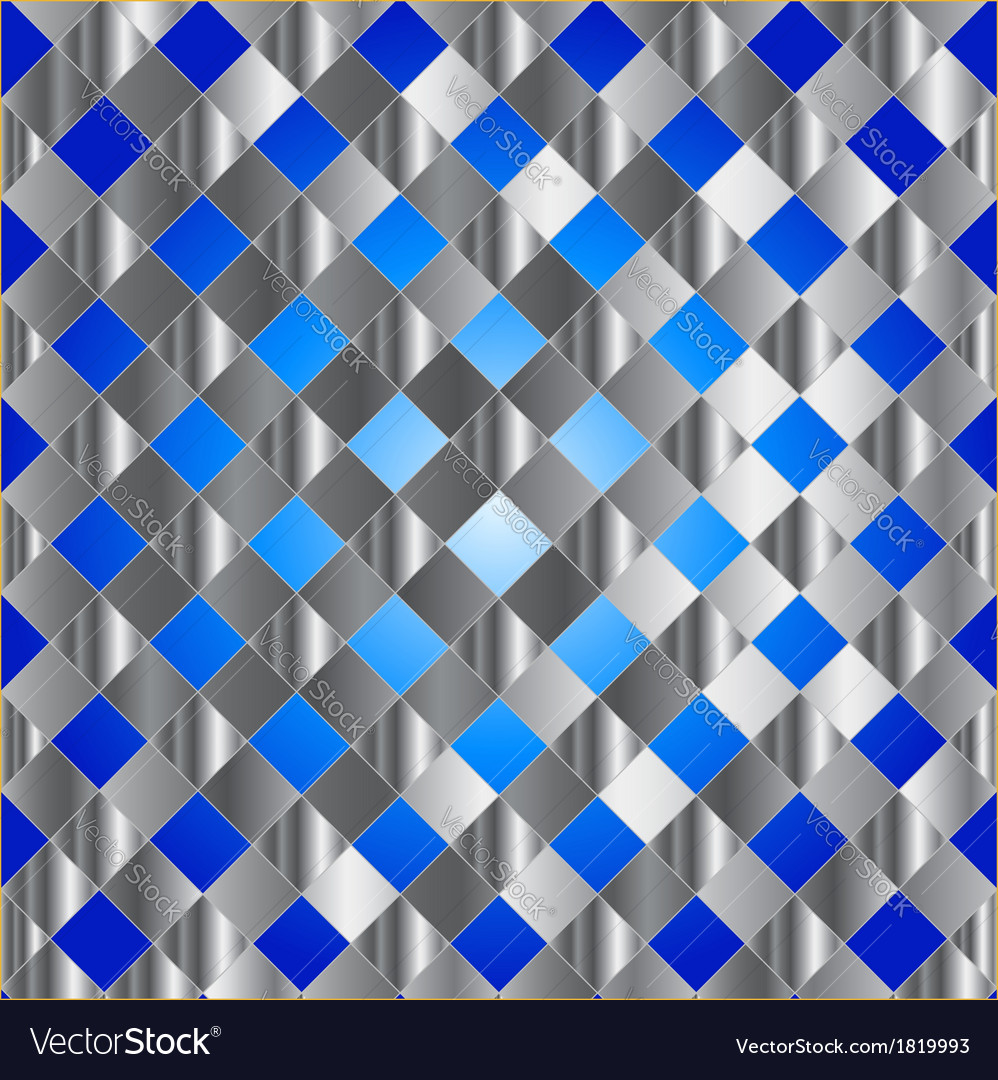 Blue metal grid background vector | Price: 1 Credit (USD $1)