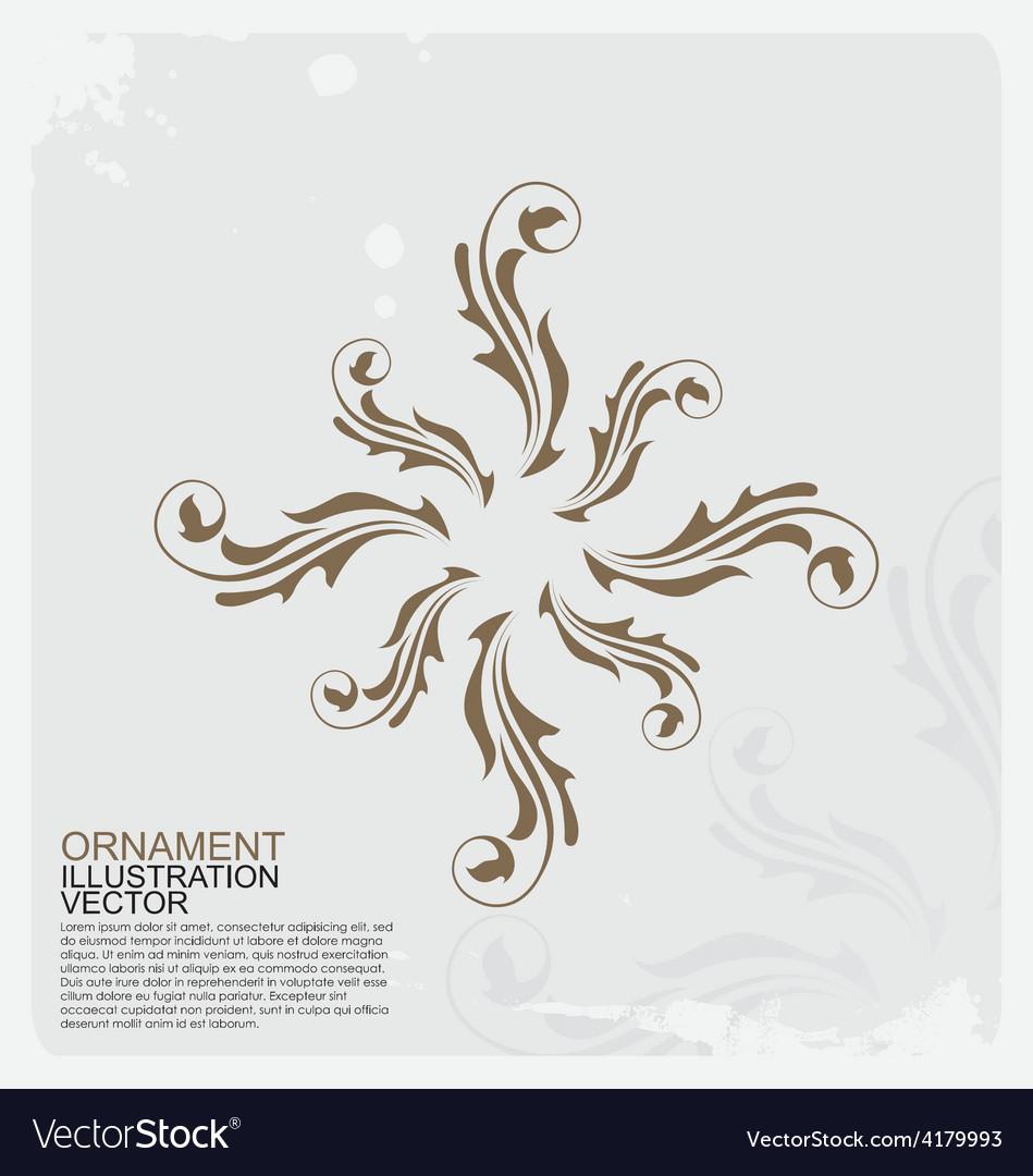 Circle vintage ornament logo vector | Price: 1 Credit (USD $1)
