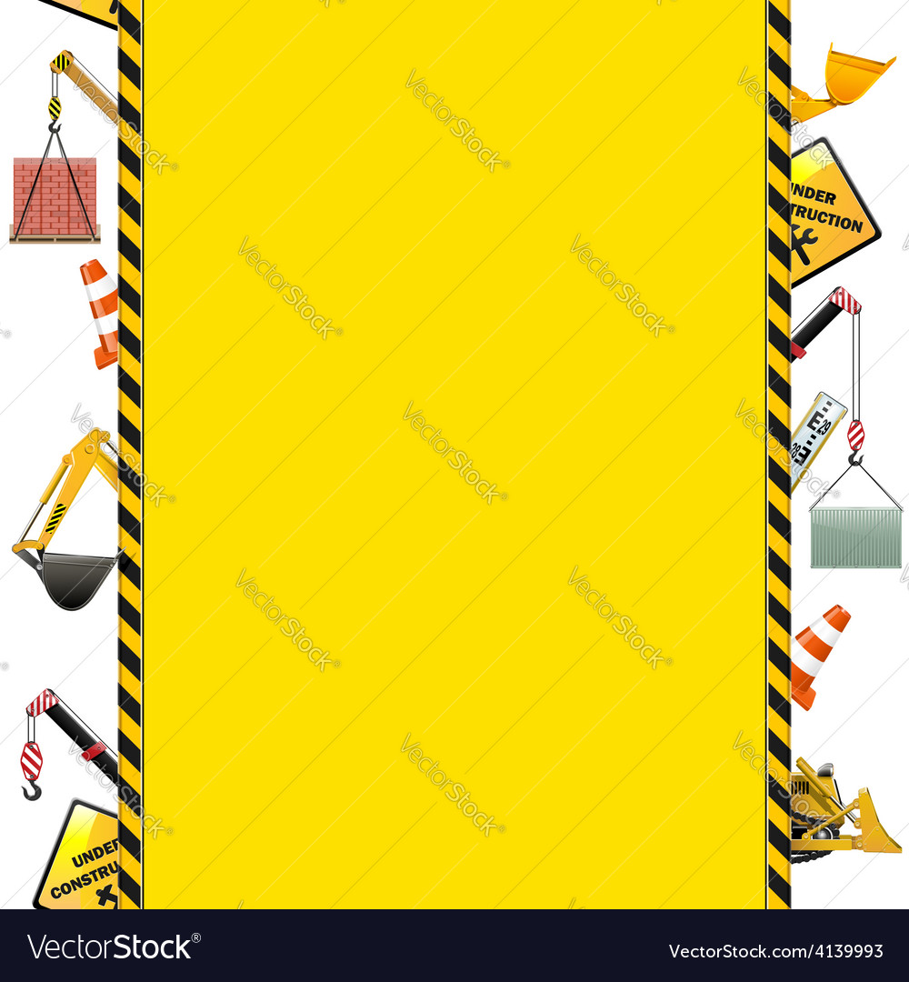 Construction frame with machinery vector | Price: 3 Credit (USD $3)