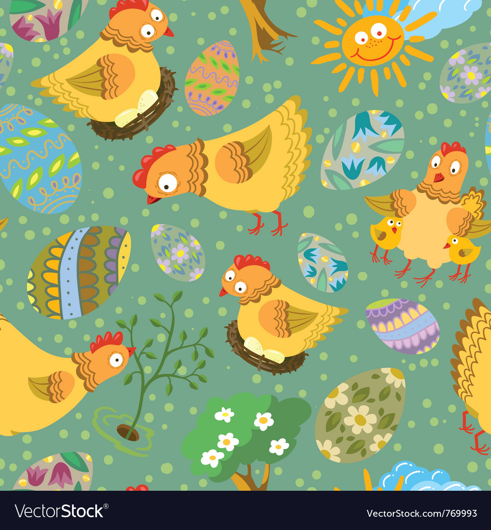 Cute color easter seamless vector | Price: 1 Credit (USD $1)