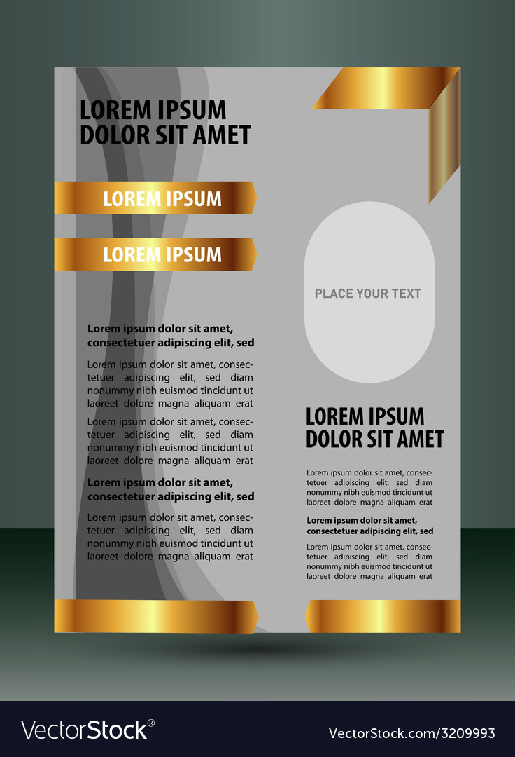 Design layout template - brochure of flyer vector | Price: 1 Credit (USD $1)