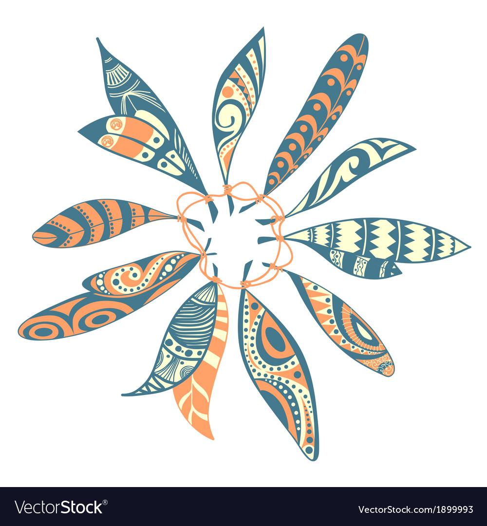 Dream catcher leaf design vector | Price: 1 Credit (USD $1)