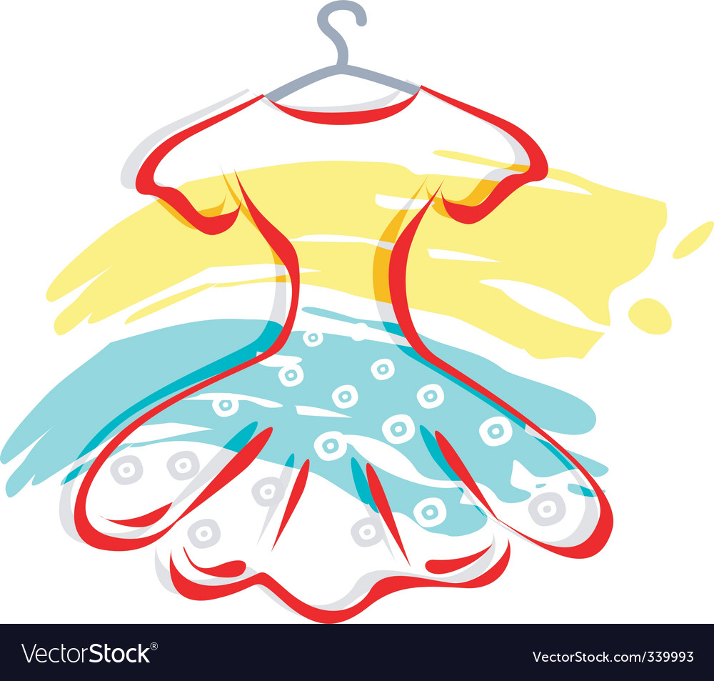 Frock with hanger vector   Price: 1 Credit (USD $1)