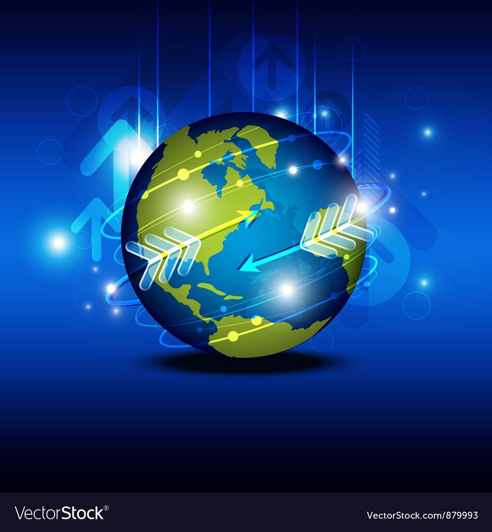Globalization technology vector | Price: 1 Credit (USD $1)