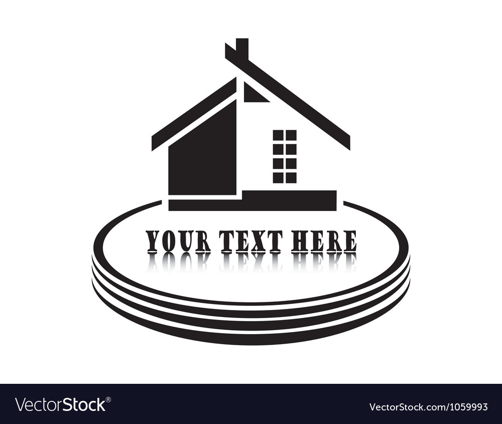 Home on white background vector | Price: 1 Credit (USD $1)