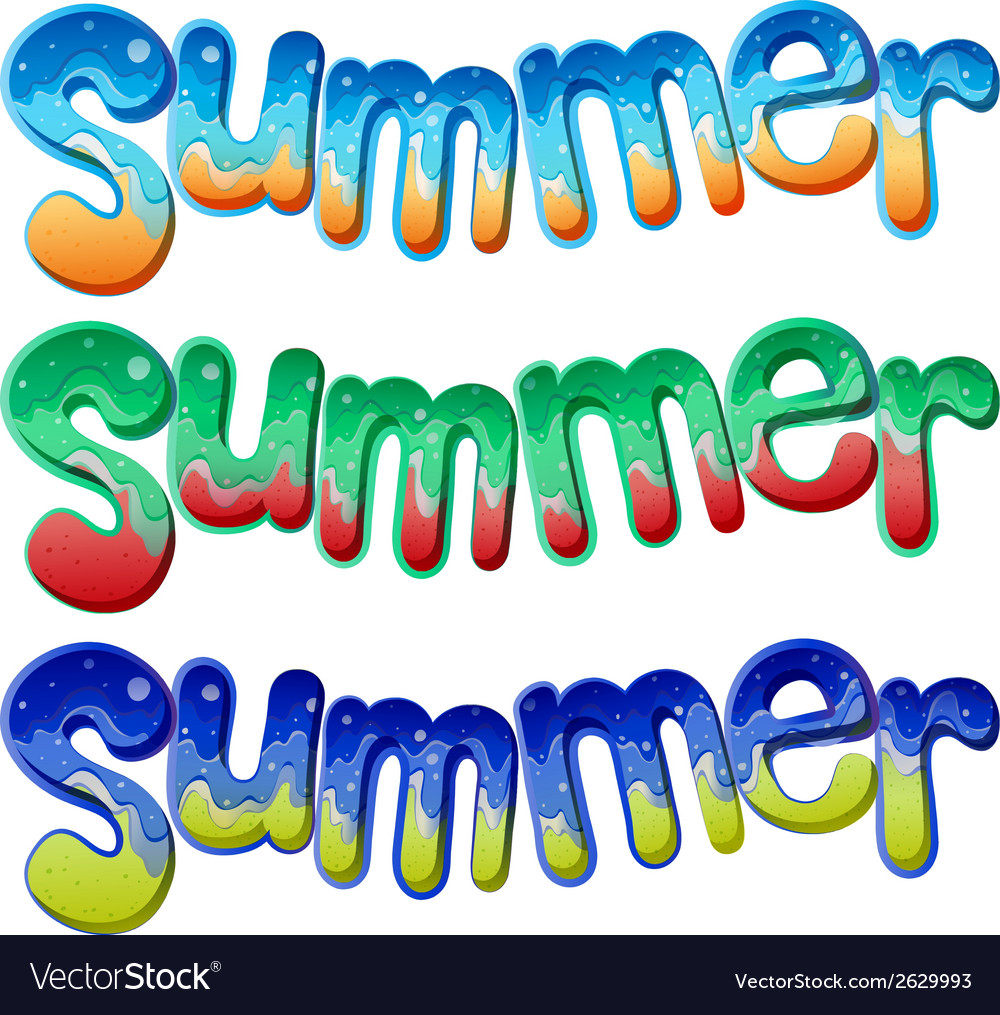 Summer texts vector | Price: 1 Credit (USD $1)