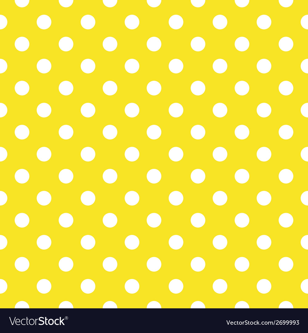 Tile pattern white polka dots yellow background vector | Price: 1 Credit (USD $1)