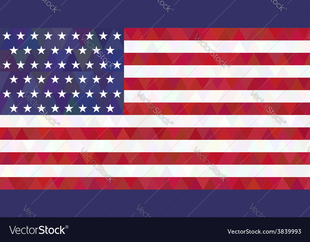 Usa flag triangle style vector | Price: 1 Credit (USD $1)