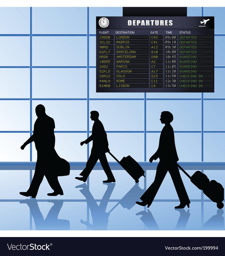 Airport set 1 passengers departing vector | Price: 1 Credit (USD $1)