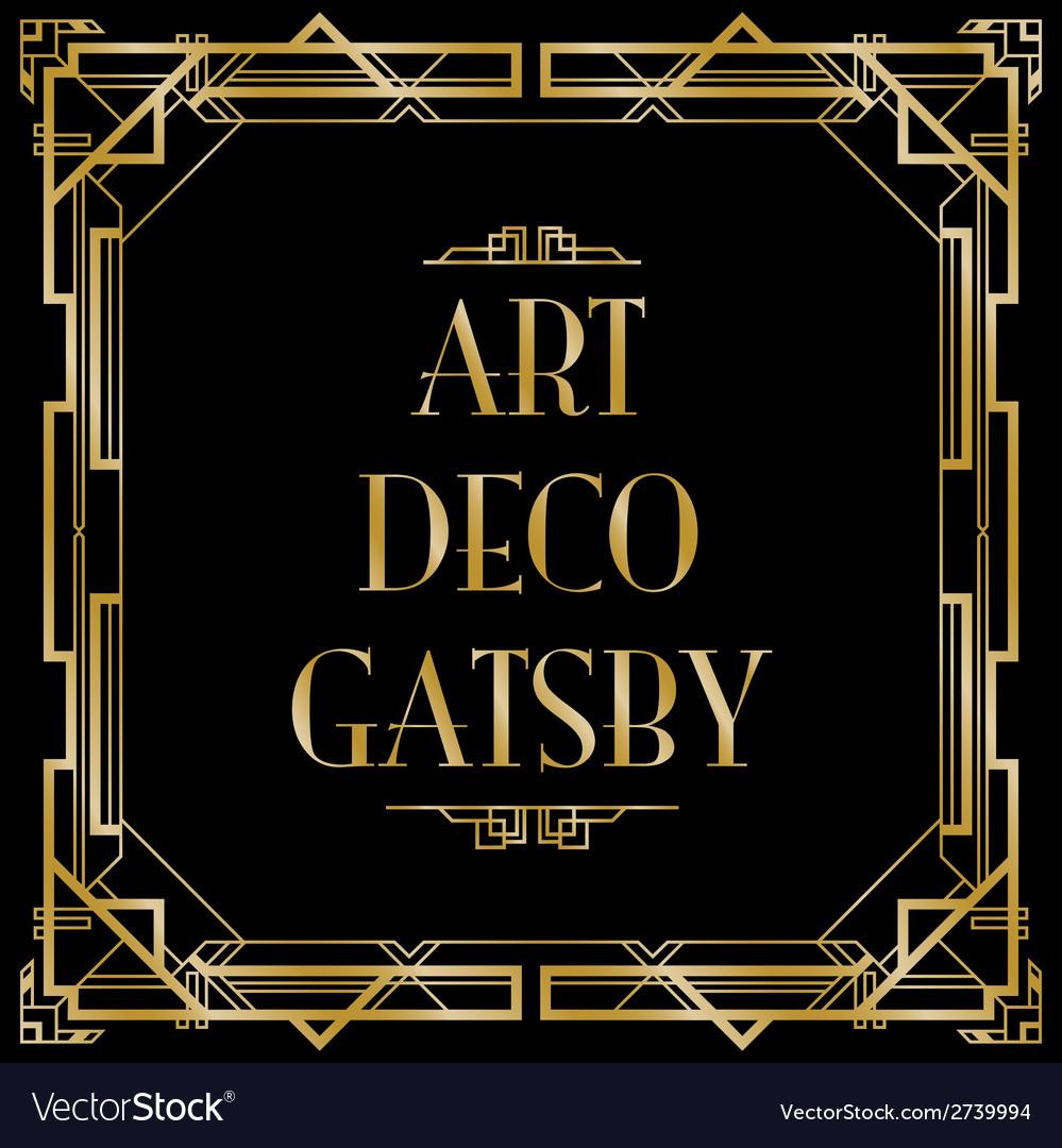 Art deco gatsby square vector   Price: 1 Credit (USD $1)