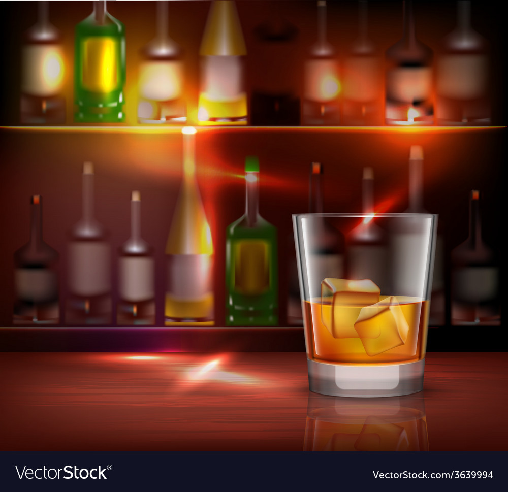 Bar counter background vector | Price: 1 Credit (USD $1)