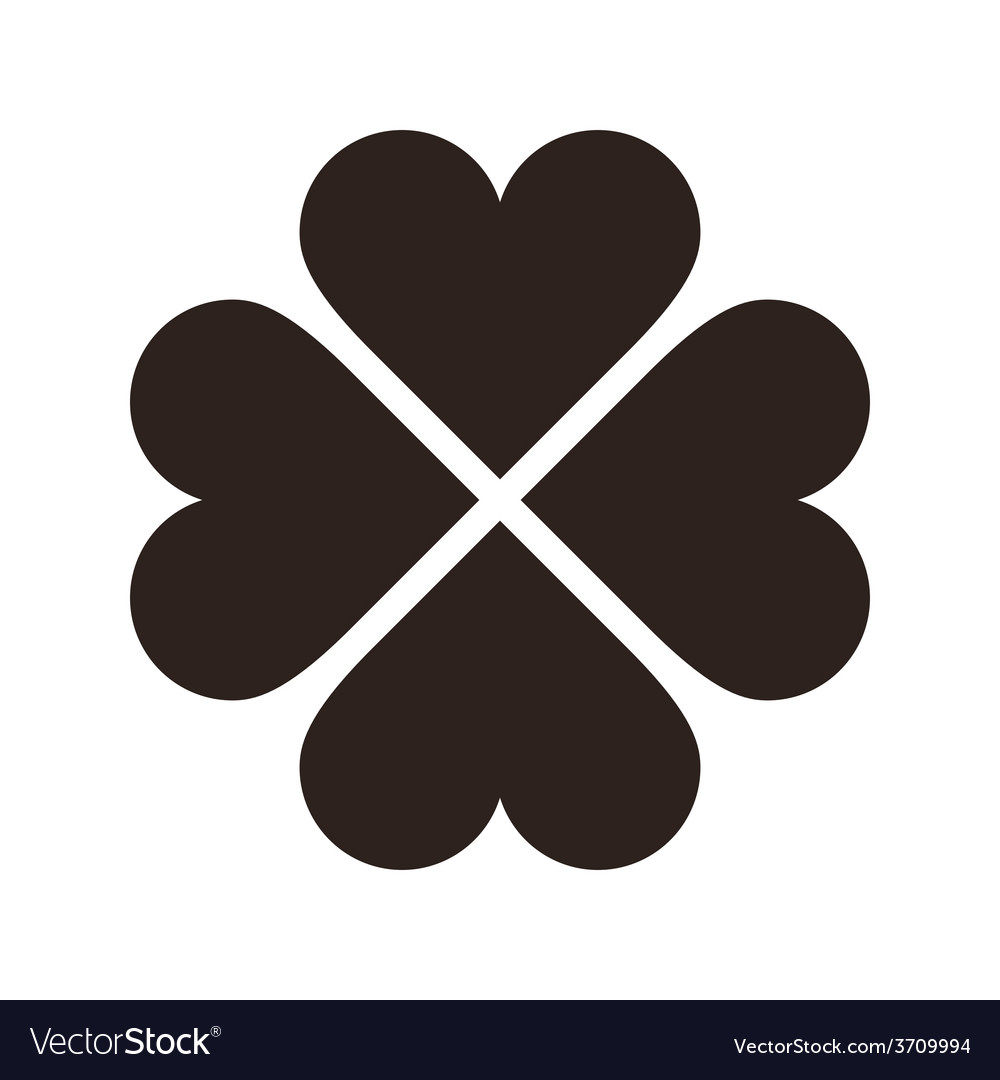 Clover with four leaves icon saint patrick symbol vector | Price: 1 Credit (USD $1)