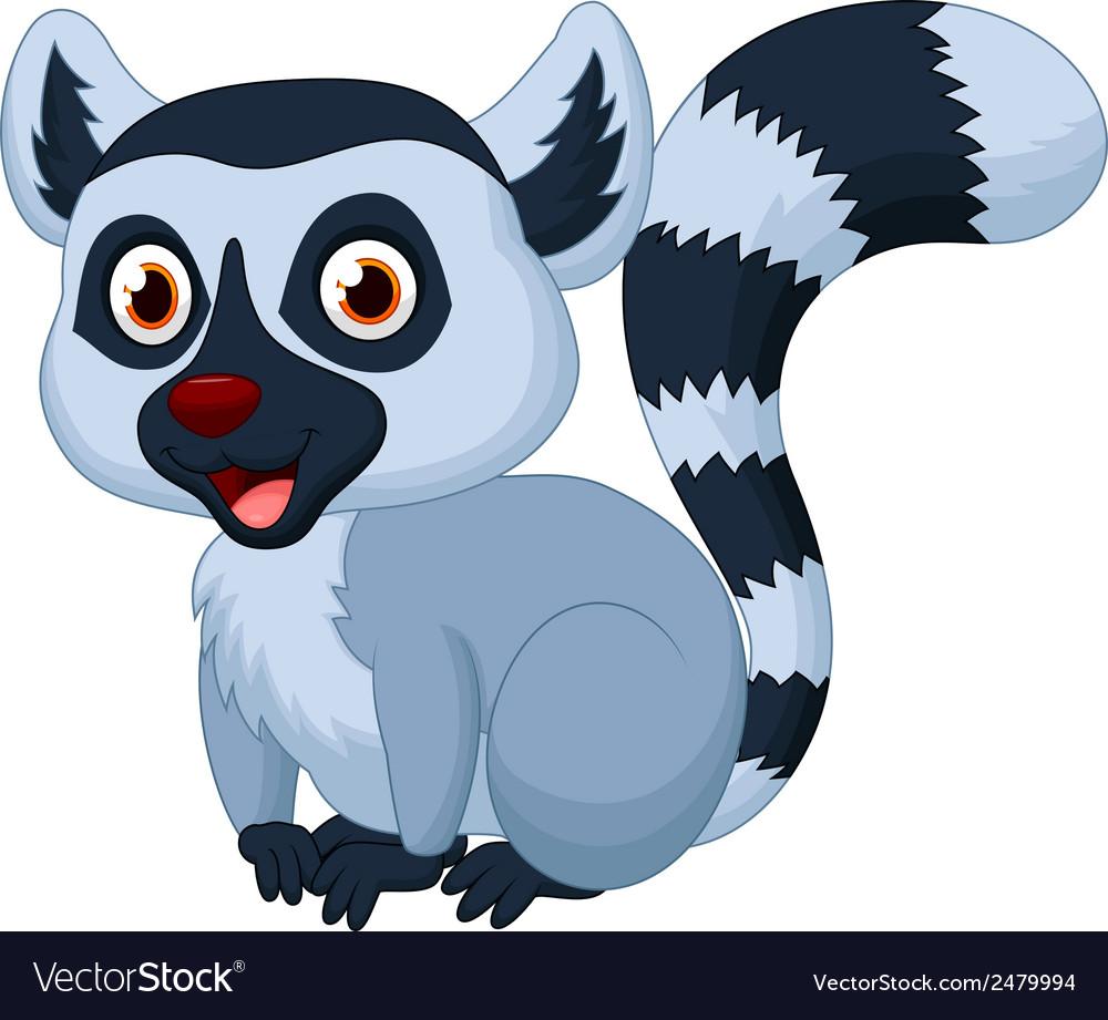 Cute lemur cartoon vector | Price: 1 Credit (USD $1)