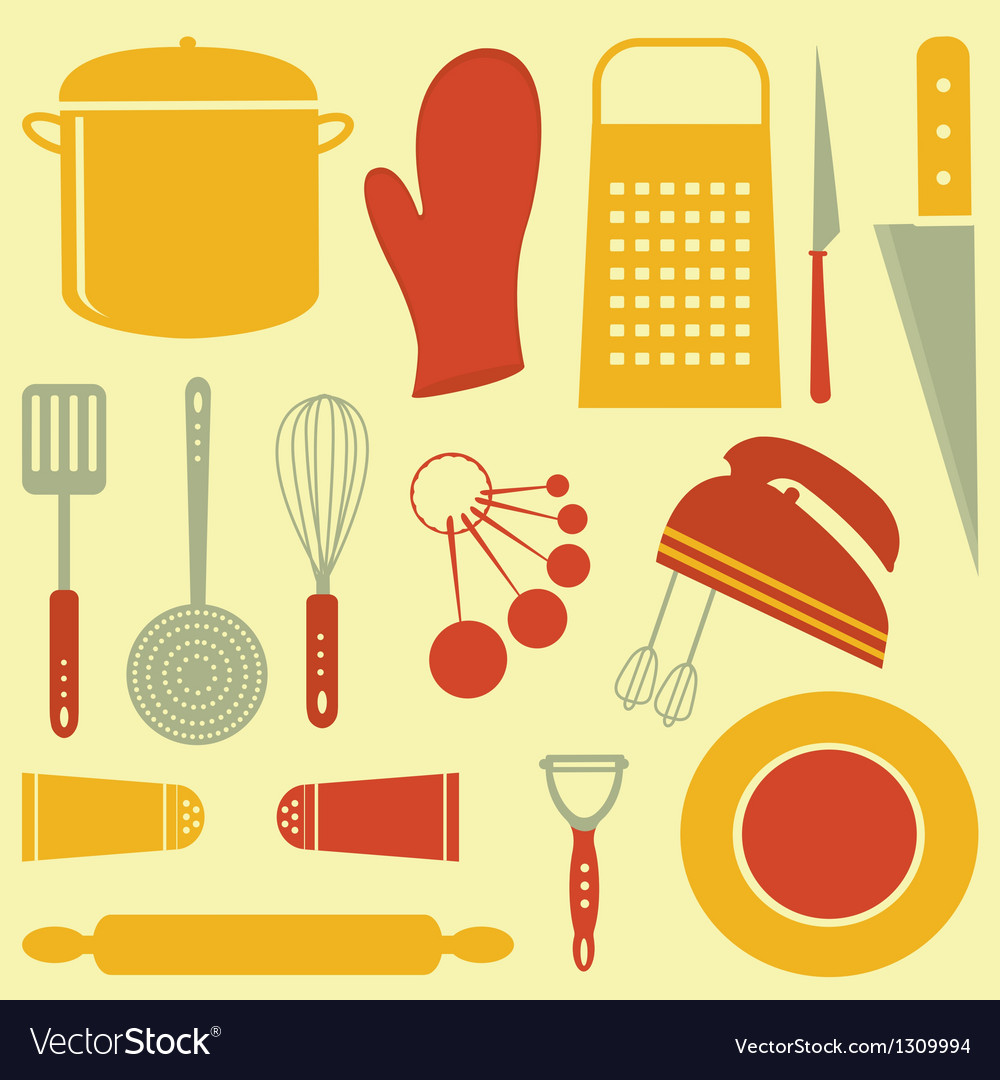 Kitchen composition vector | Price: 1 Credit (USD $1)