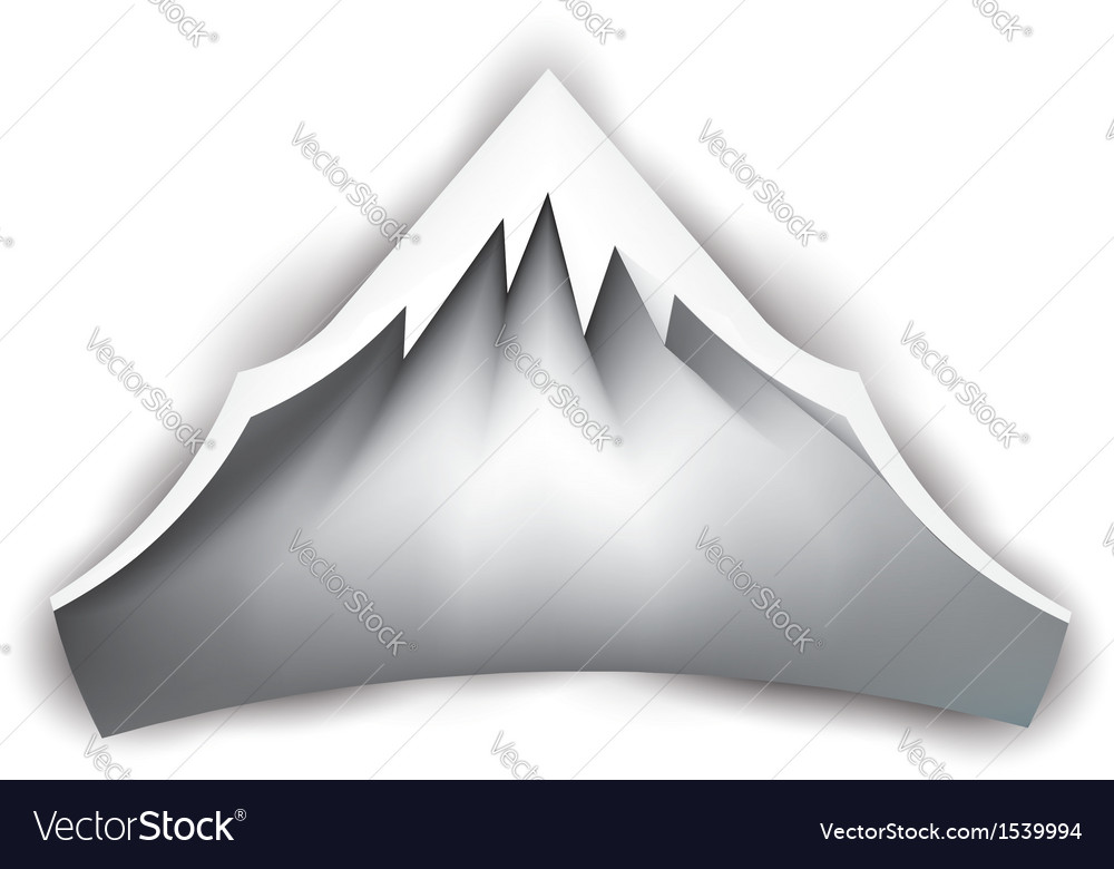 Mountain peak logo vector | Price: 1 Credit (USD $1)