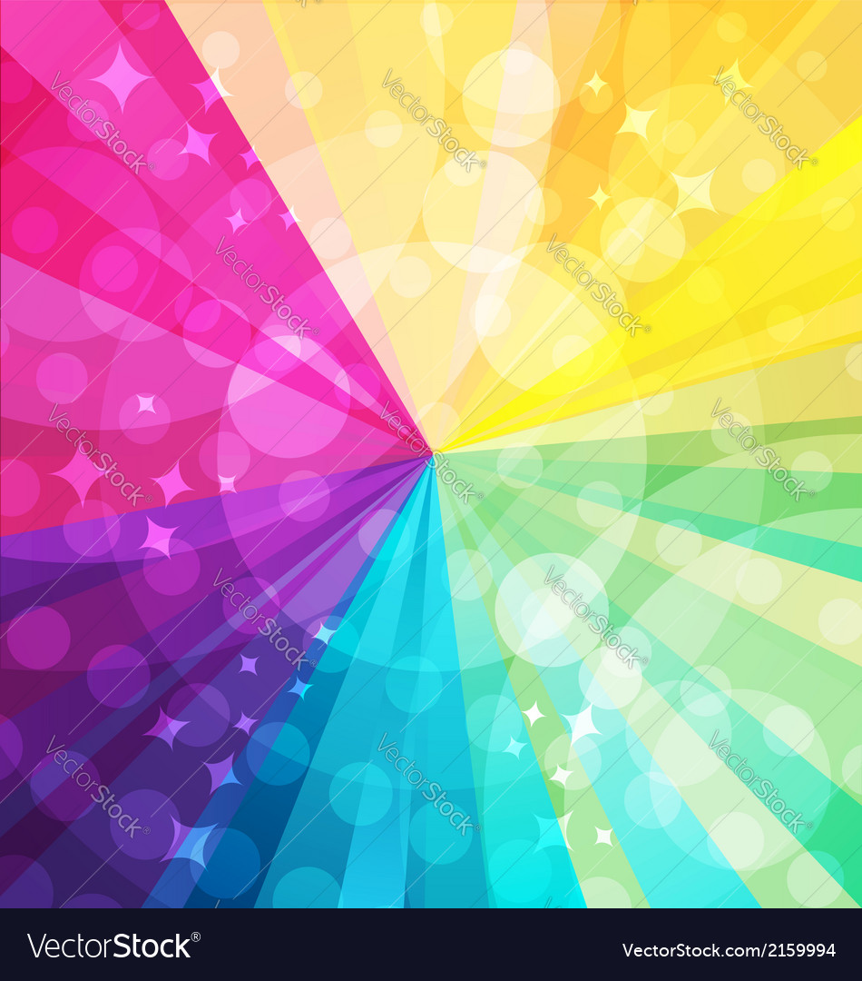 Rainbow bright background with rays5 vector | Price: 1 Credit (USD $1)