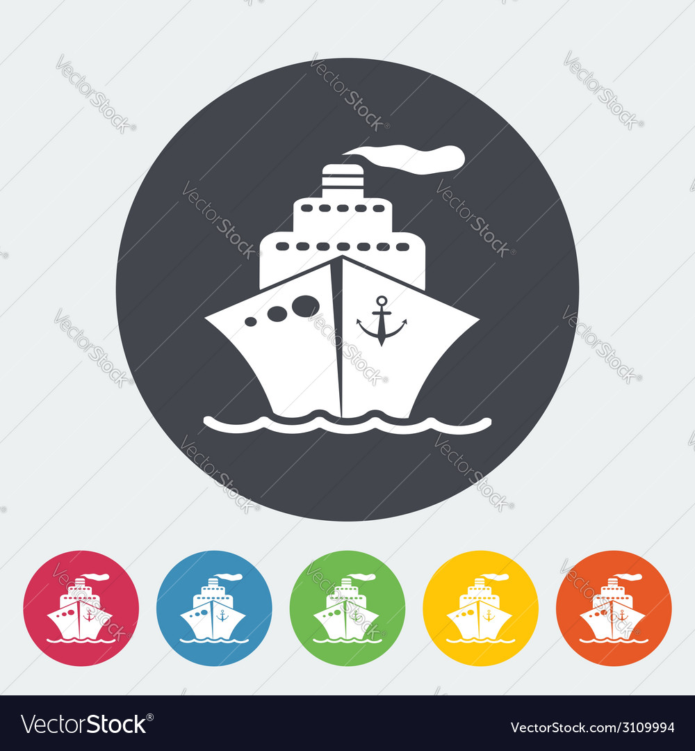 Ship icon vector | Price: 1 Credit (USD $1)