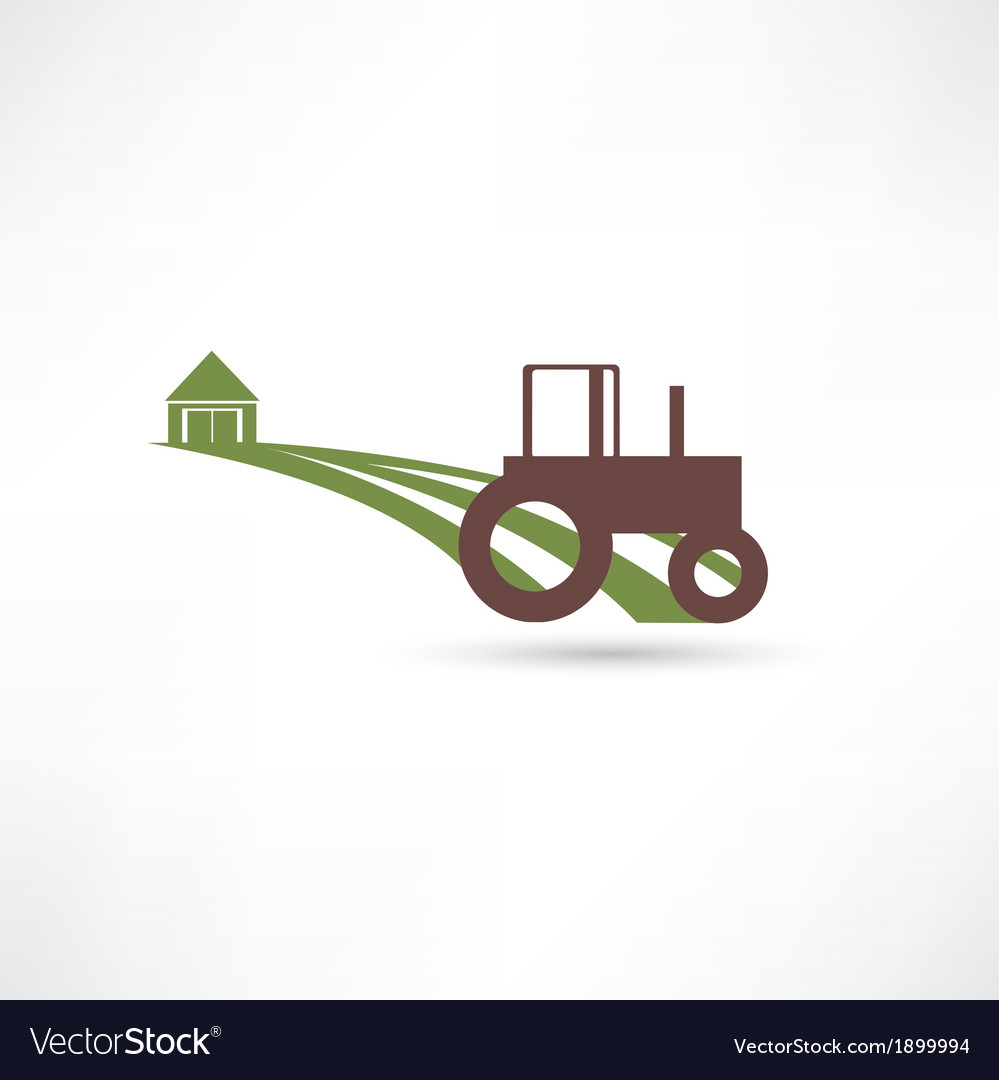 Tractor field vector | Price: 1 Credit (USD $1)