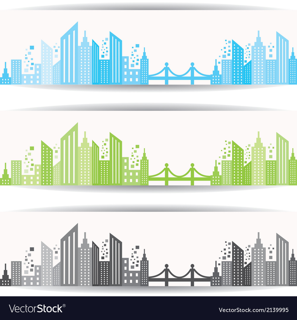 Abstract building design for website banner vector | Price: 1 Credit (USD $1)