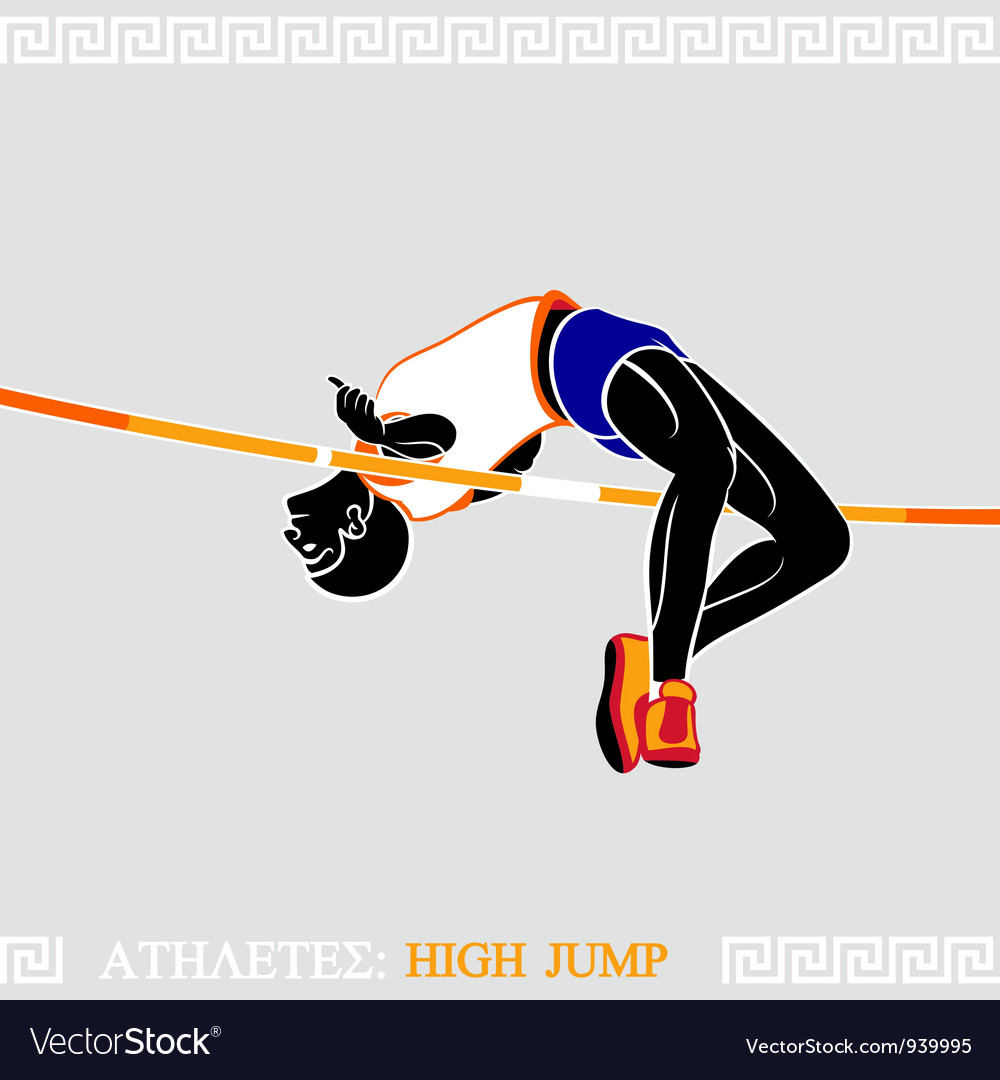Athlete high jumper vector | Price: 3 Credit (USD $3)