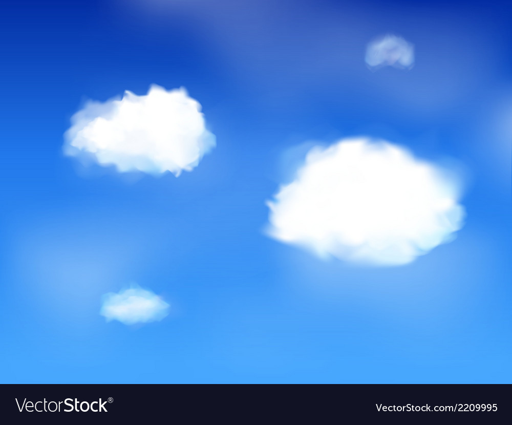 Blue sky and clouds landscape vector | Price: 1 Credit (USD $1)