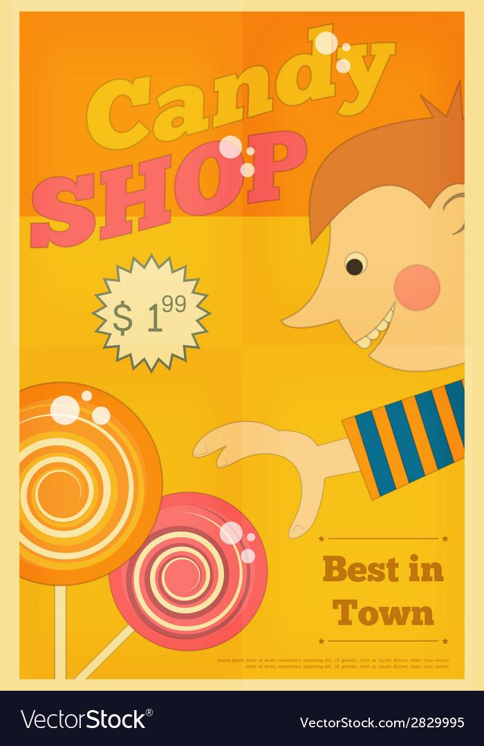 Candy shop boy vector | Price: 1 Credit (USD $1)