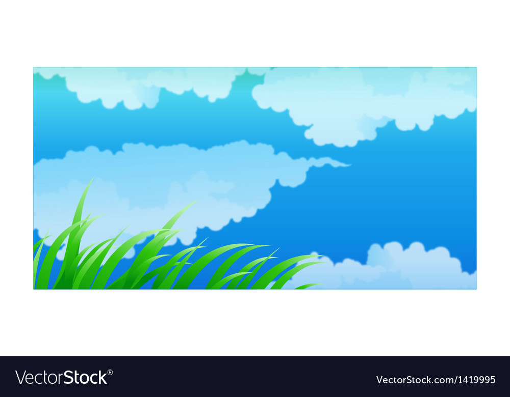 Close-up of clouds in blue sky vector | Price: 1 Credit (USD $1)