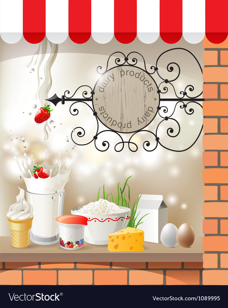 Dairy store vector | Price: 5 Credit (USD $5)
