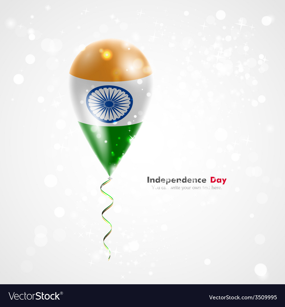 Flag of india on balloon vector | Price: 1 Credit (USD $1)