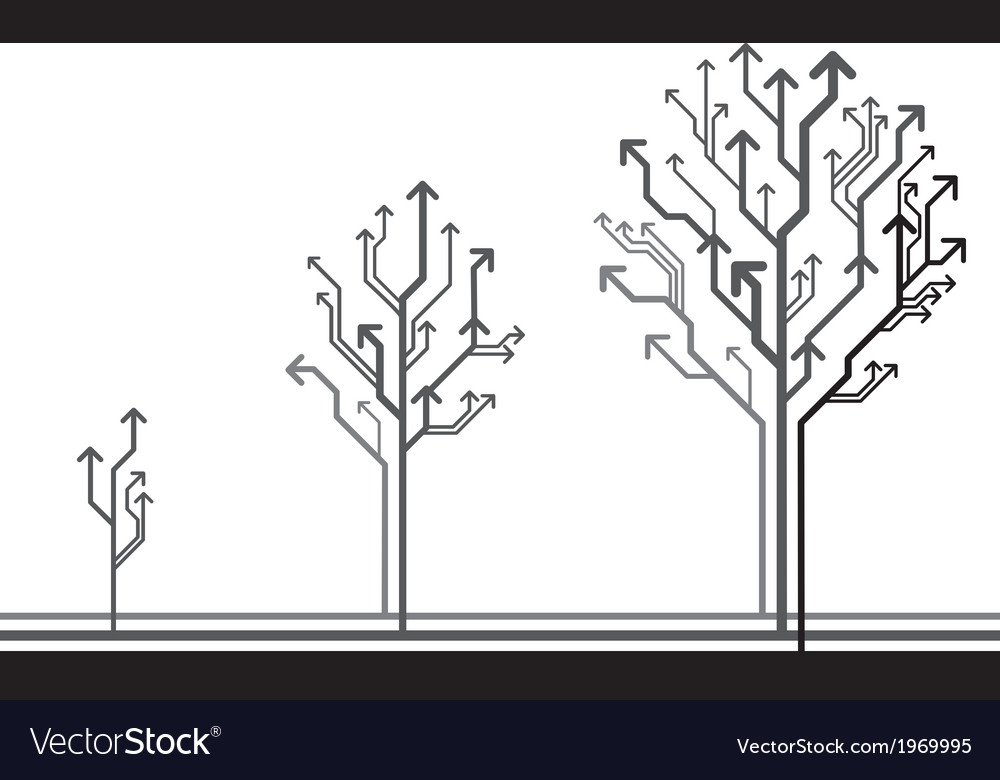 Growing arrow tree vector | Price: 1 Credit (USD $1)