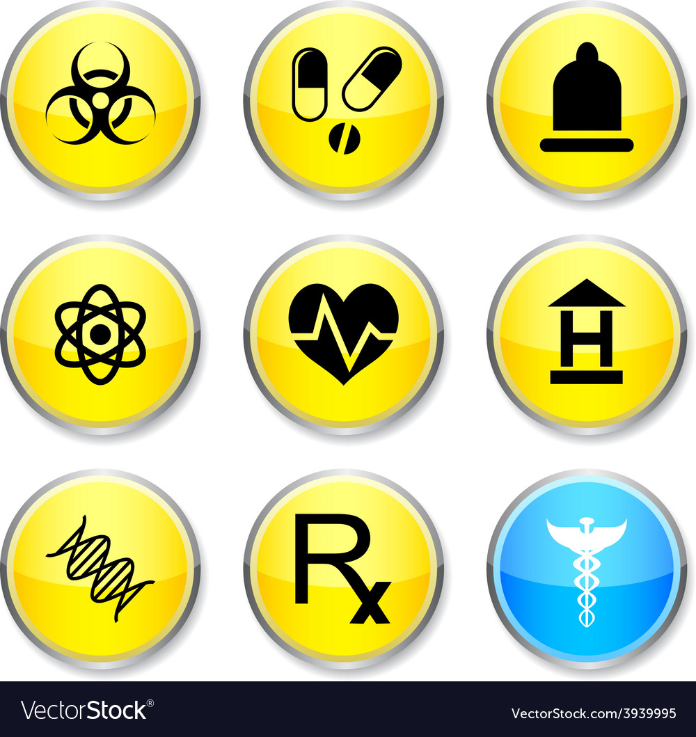 Medical round icons vector   Price: 1 Credit (USD $1)