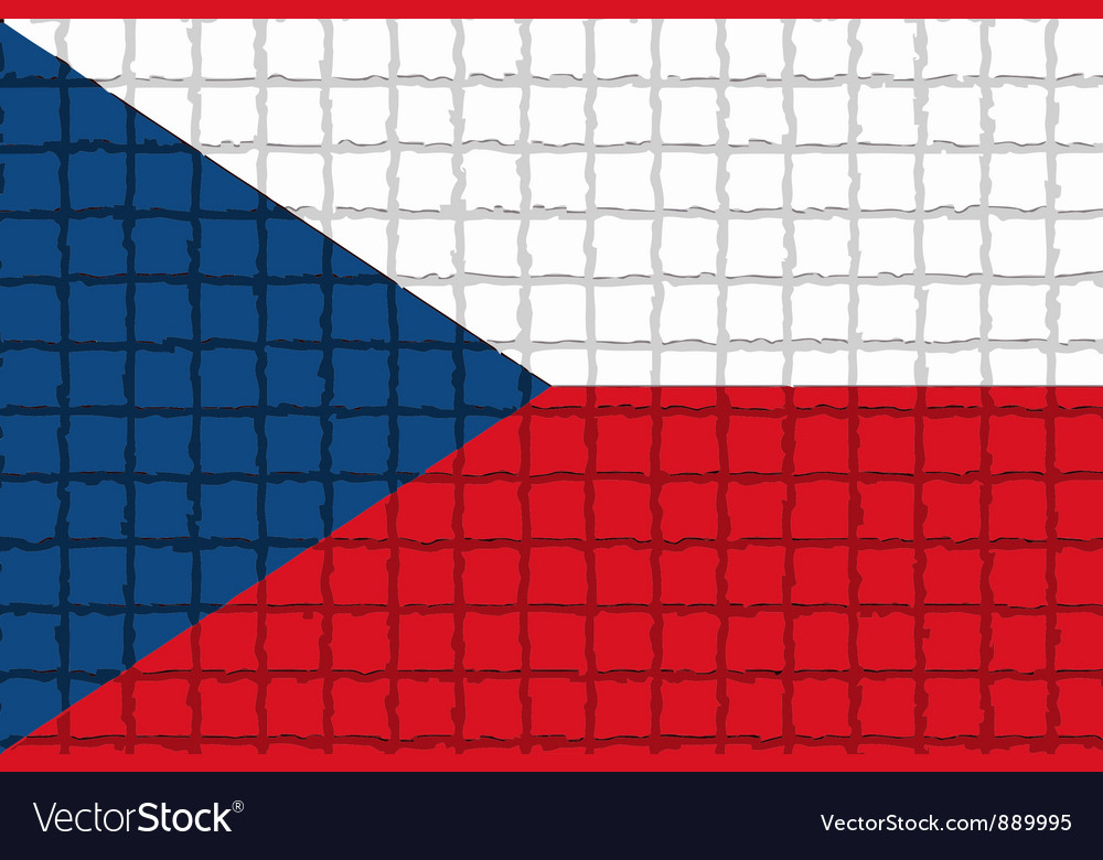 The mosaic flag of czech vector | Price: 1 Credit (USD $1)