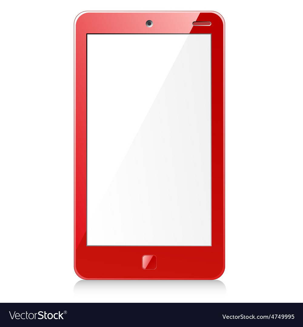New red smartphone vector | Price: 1 Credit (USD $1)