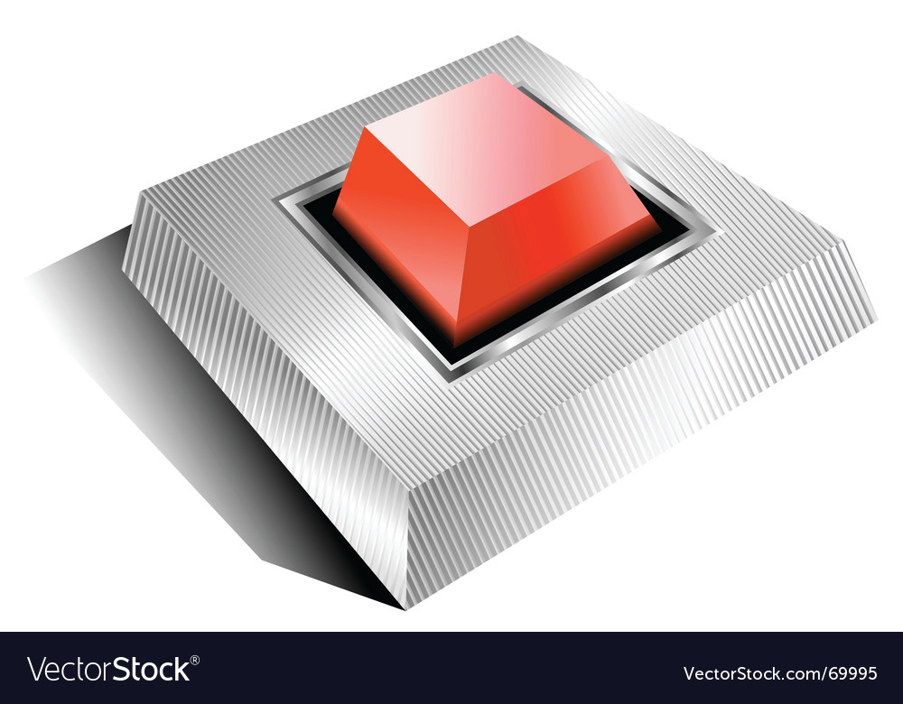 Red alarm button vector | Price: 1 Credit (USD $1)