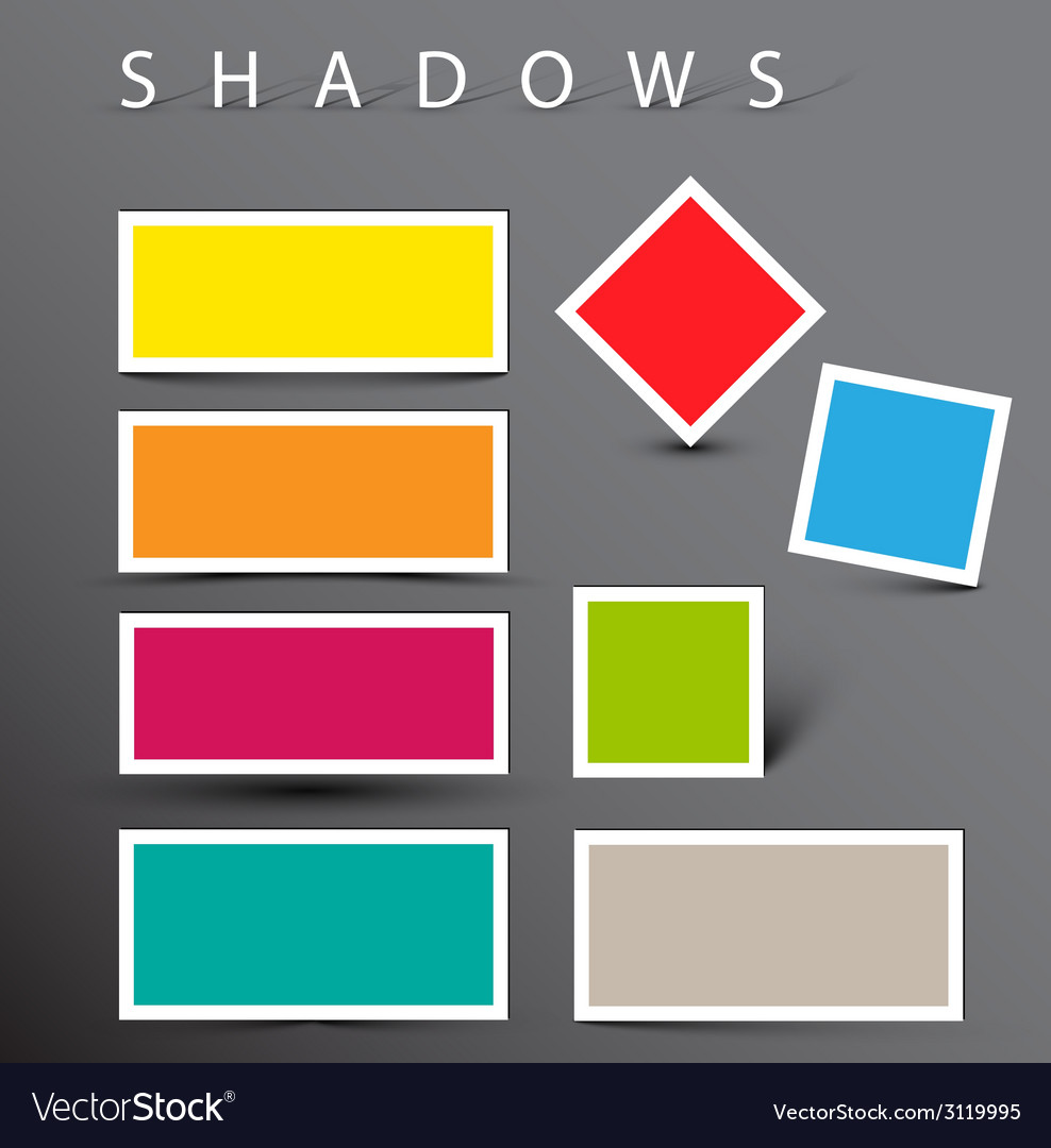 Set of shadow effects vector | Price: 1 Credit (USD $1)