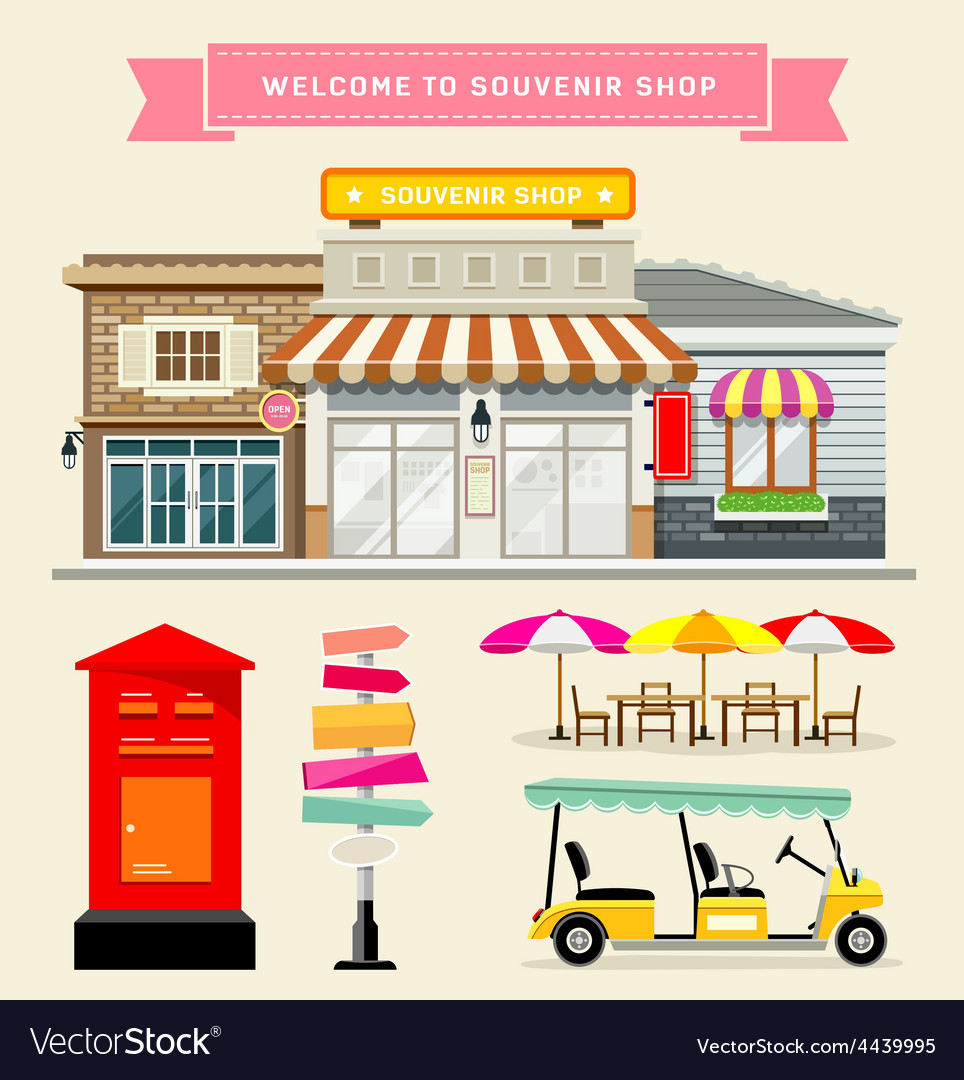 Souvenir shop collections concepts design vector | Price: 3 Credit (USD $3)