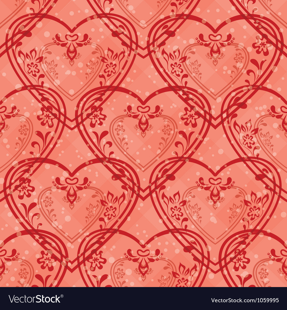 Valentine heart seamless vector | Price: 1 Credit (USD $1)
