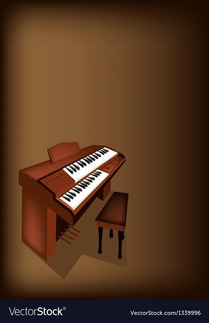A retro pipe organ on dark brown background vector | Price: 1 Credit (USD $1)