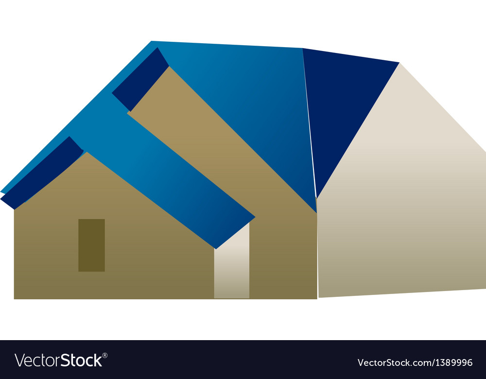 A view of a house vector