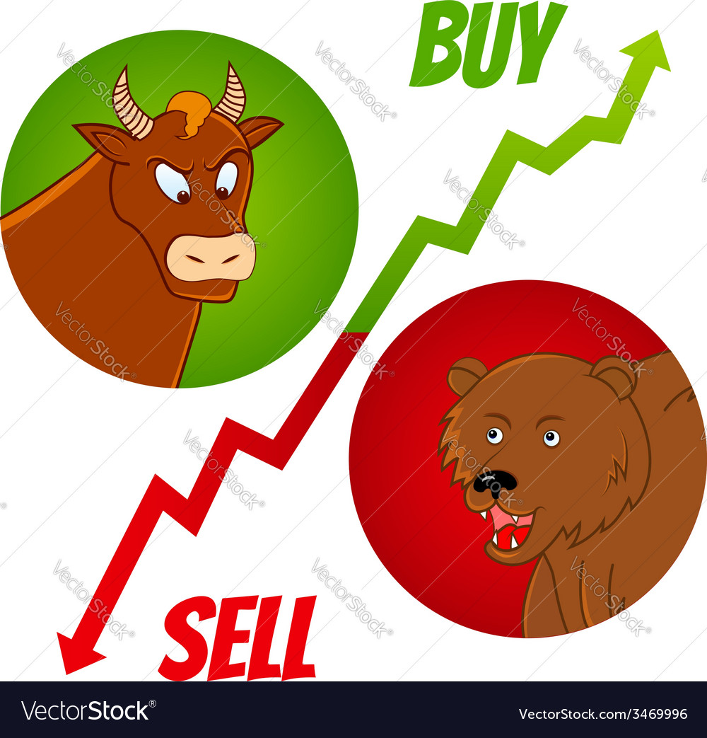 Bull and bear1 vector | Price: 1 Credit (USD $1)