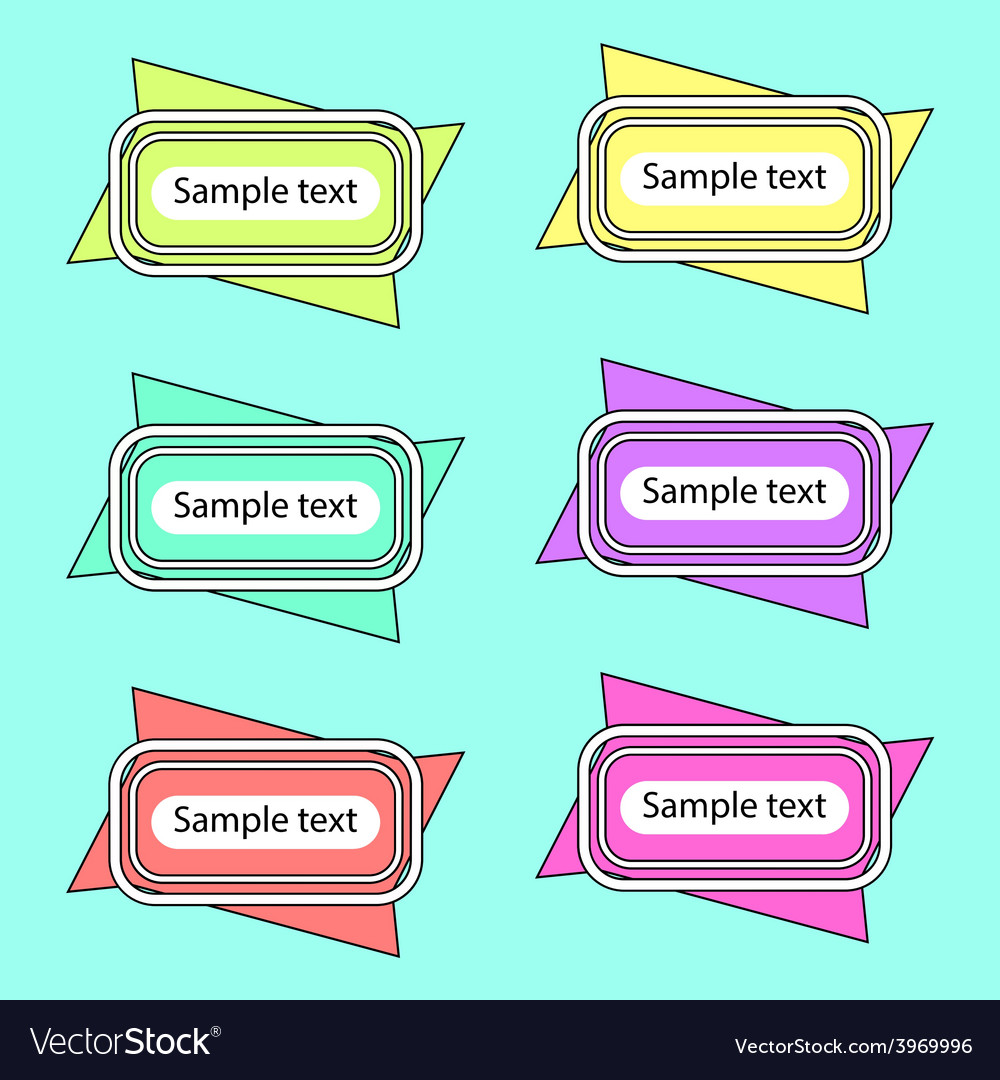 Colored banners 2 vector | Price: 1 Credit (USD $1)