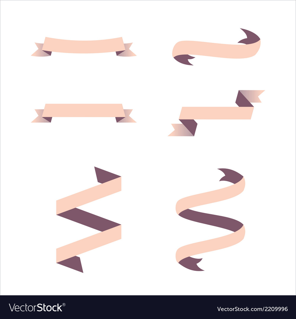 Decorative banners and ribbons vector