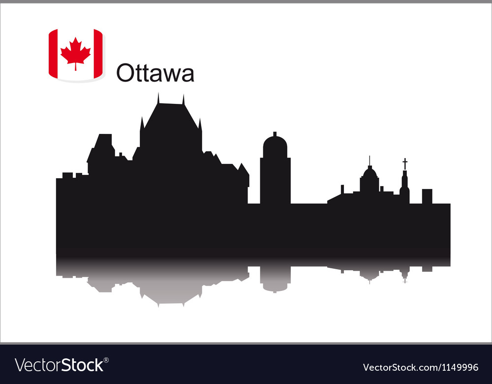 Detailed silhouette city of ottawa vector | Price: 1 Credit (USD $1)