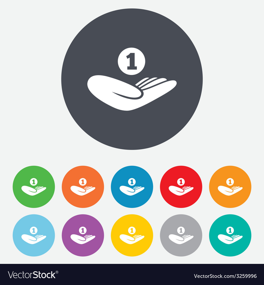 Donation hand sign icon charity or endowment vector   Price: 1 Credit (USD $1)