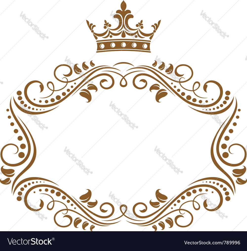 Elegant royal frame vector | Price: 1 Credit (USD $1)
