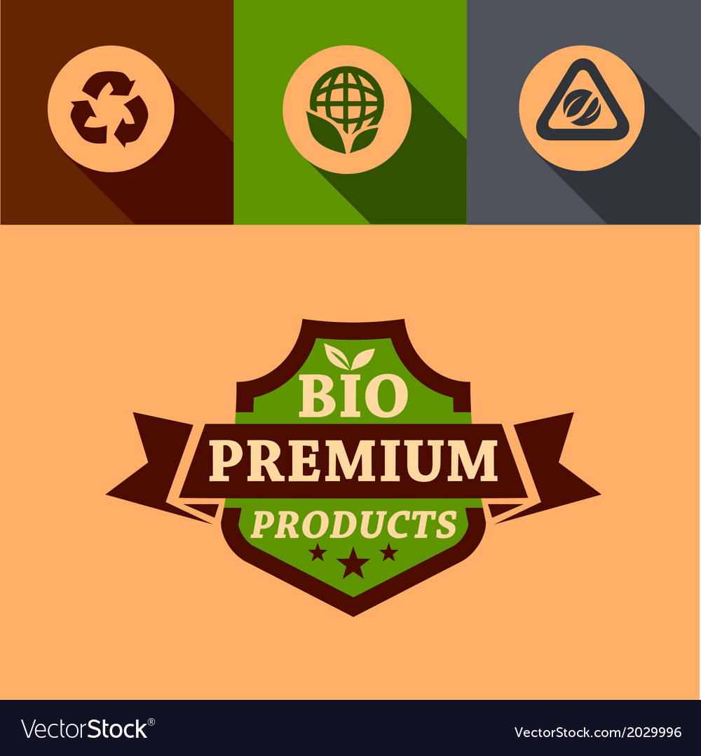 Flat bio premium design elements vector | Price: 1 Credit (USD $1)