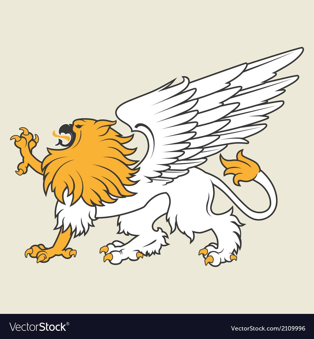 Heraldic griffin8 vector   Price: 1 Credit (USD $1)