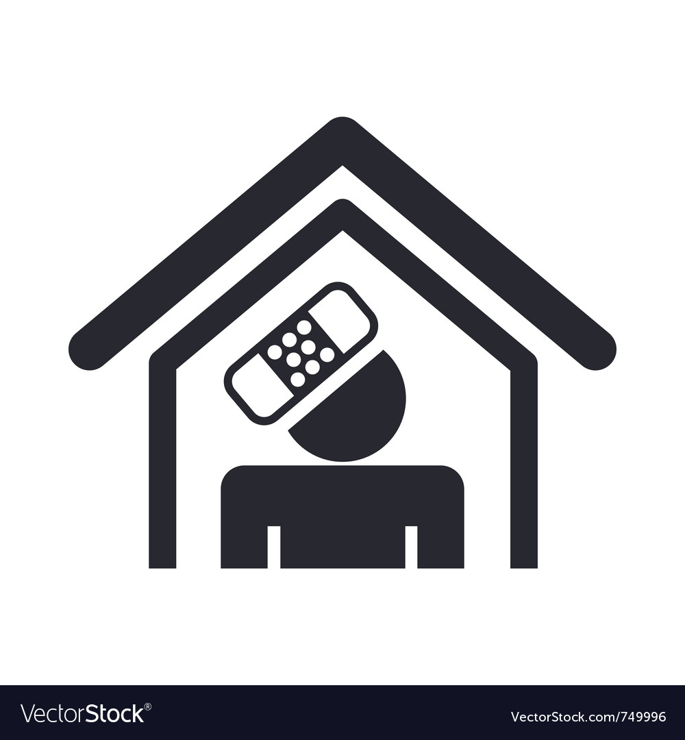 Home accident icon vector | Price: 1 Credit (USD $1)