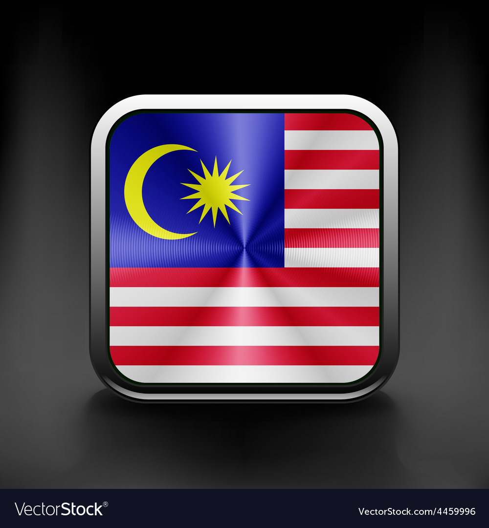 Original and simple malaysia flag isolated vector | Price: 1 Credit (USD $1)