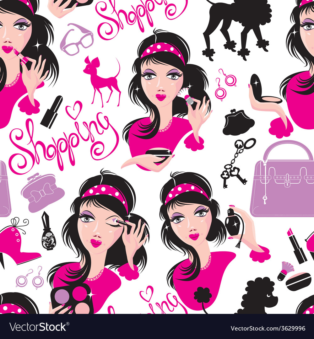 Seamless pattern for fashion design glamor lovely vector   Price: 1 Credit (USD $1)